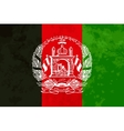 True proportions Afghanistan flag with texture vector image vector image