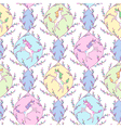 Unicorn pattern white vector image vector image