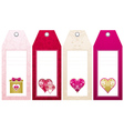 valentines labels with decorative hearts vector image vector image