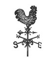 weather vane engraving vector image vector image