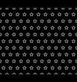 white star line on black background vector image vector image