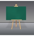 Wooden tripod with a green chalkboard vector image vector image