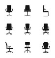 chair icons set simple style vector image