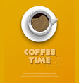 coffee time concept design background vector image