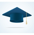 Education Cup on White Graduation Cap vector image