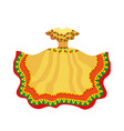 mexican dress icon flat style traditional vector image