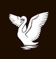 swan logo sign emblem-21 vector image