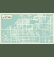 anchorage alaska usa city map in retro style vector image