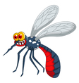 angry mosquito cartoon vector image