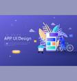 app ux ui design concept designers teamwork vector image vector image