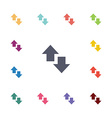 arrow flat icons set vector image vector image