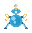 blue robotic antenna communication mechanical vector image