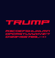 bold geometric style alphabet for auto race modern vector image vector image