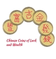 Bunch of China Coins vector image