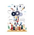 business concept management motivation vector image vector image
