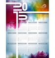 Calendar 2015 on abstract background vector image vector image
