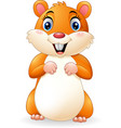cartoon smiling hamster vector image