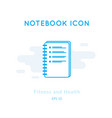 checklist icon isolated on white vector image