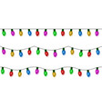 christmas lights string color garland set vector image vector image