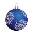 christmas new year ball vector image vector image