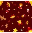 Christmass seamless pattern gingerbread man vector image