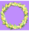 circle frame with yellow tulips and springs vector image