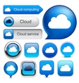 Cloud computing high-detailed modern buttons vector | Price: 1 Credit (USD $1)