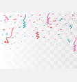 colorful bright confetti vector image