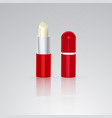 colorless hygienic lipstick in a white plastic vector image vector image
