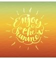 enjoy summer vector image vector image