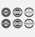exclusive offer and discount badge of sticker vector image