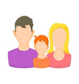 Family avatars icon cartoon style vector image
