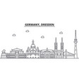 germany dresden architecture line skyline vector image vector image