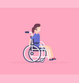 girl in a wheelchair - modern flat design style vector image