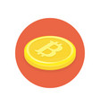 golden bitcoins icon vector image