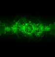 green abstract technological background with vector image vector image