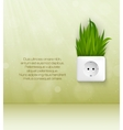 green socket with grass vector image