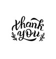 handwritten thank you lettering quote greeting vector image