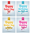 Happy Father Day Mother day Wedding Birth vector image vector image