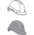 hardhat angled view vector image vector image