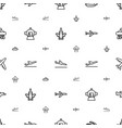 jet icons pattern seamless white background vector image vector image