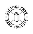 lactose free simple icon modern design element vector image