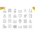 linear icon set 5 - school education vector image