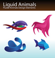 liquid animals vector image vector image