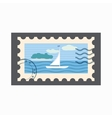 Marine stamp icon cartoon style vector image