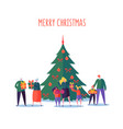 merry christmas and happy new year family party vector image vector image