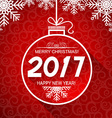 Merry christmas and New Year red card with winter vector image vector image