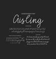 modern calligraphic font brush painted letters vector image vector image