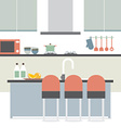 Modern Flat Design Kitchen Interior vector image vector image