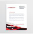 modern red black letterhead design vector image vector image